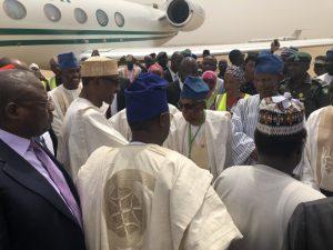 Buhari arrives Yola to open Anti-Corruption summit