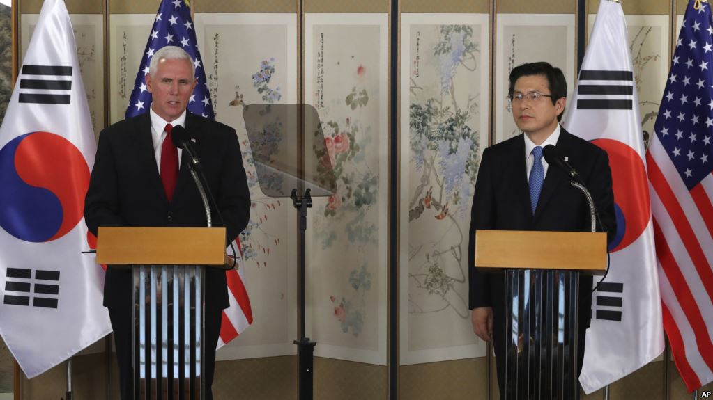 South Korean president meets with Pence