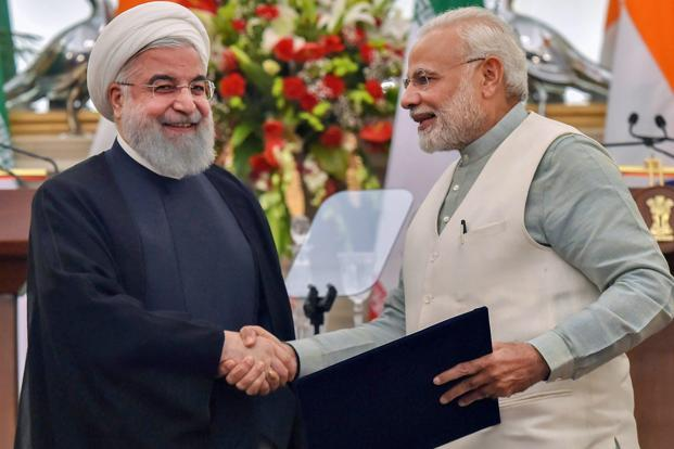 Iran's Rouhani talks economic cooperation with India's Modi
