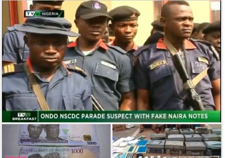 Ondo NSCDC parades dealers of fake currencies