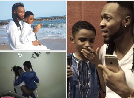 Nigerian artist Flavour adopts a blind son from Liberia