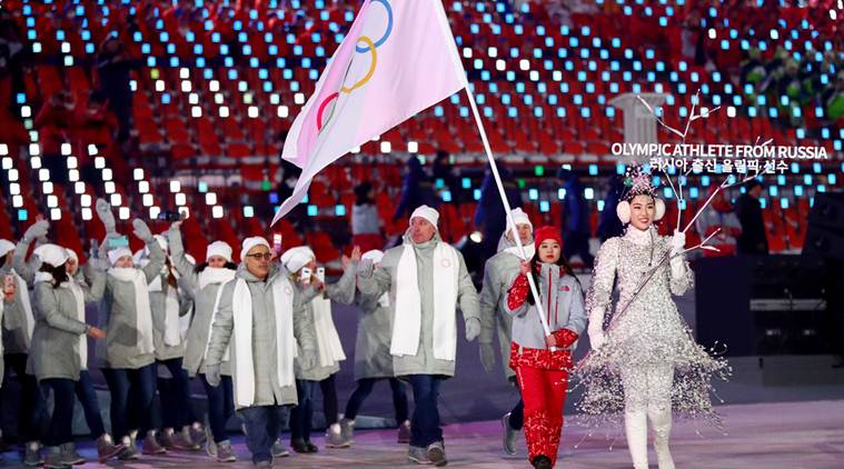 Russia barred from flying flag at Winter Games closing ceremony