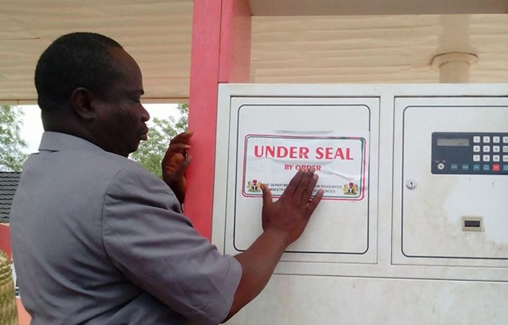 DPR seals station for hoarding, selling above pump price