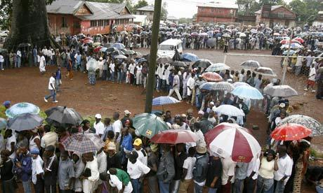Voters turn out in their numbers as Sierra Leone goes to poll today