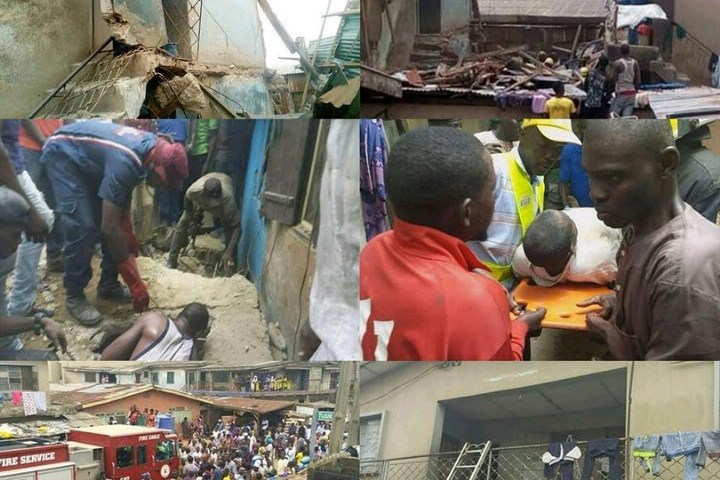 Two person killed as a-storey building collapses in Lagos