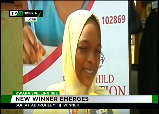 Sofiat Solagberu emerges winner of Kwara Spelling Bee competition