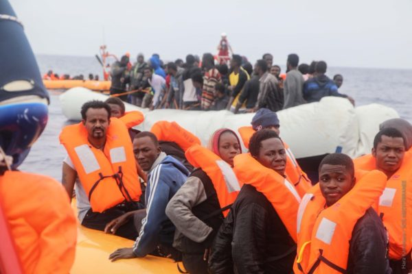 More than 50 Nigerian migrants rescued on way to Italy