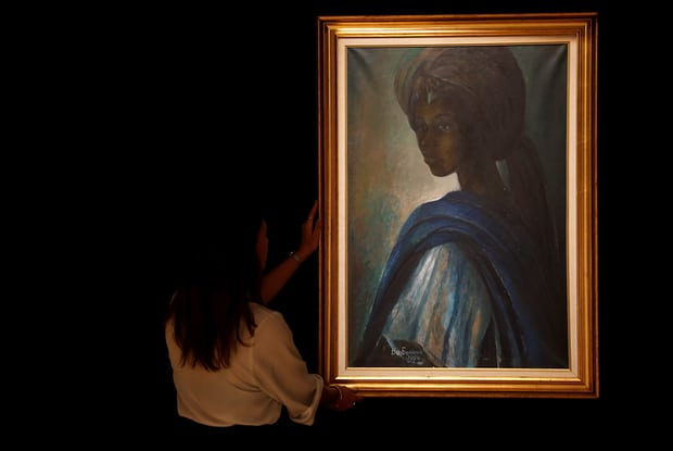 "Lost Nigerian ""Tutu"" painting found in London sells for $1.6 million"