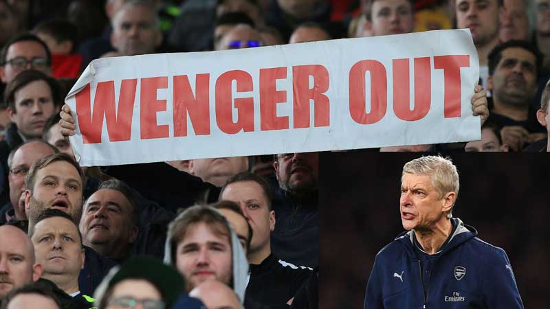 #WengerOut : Pressure mounts on Arsenal coach to step down
