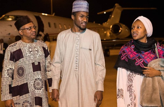 Yusuf Buhari returns to Nigeria after treatment abroad