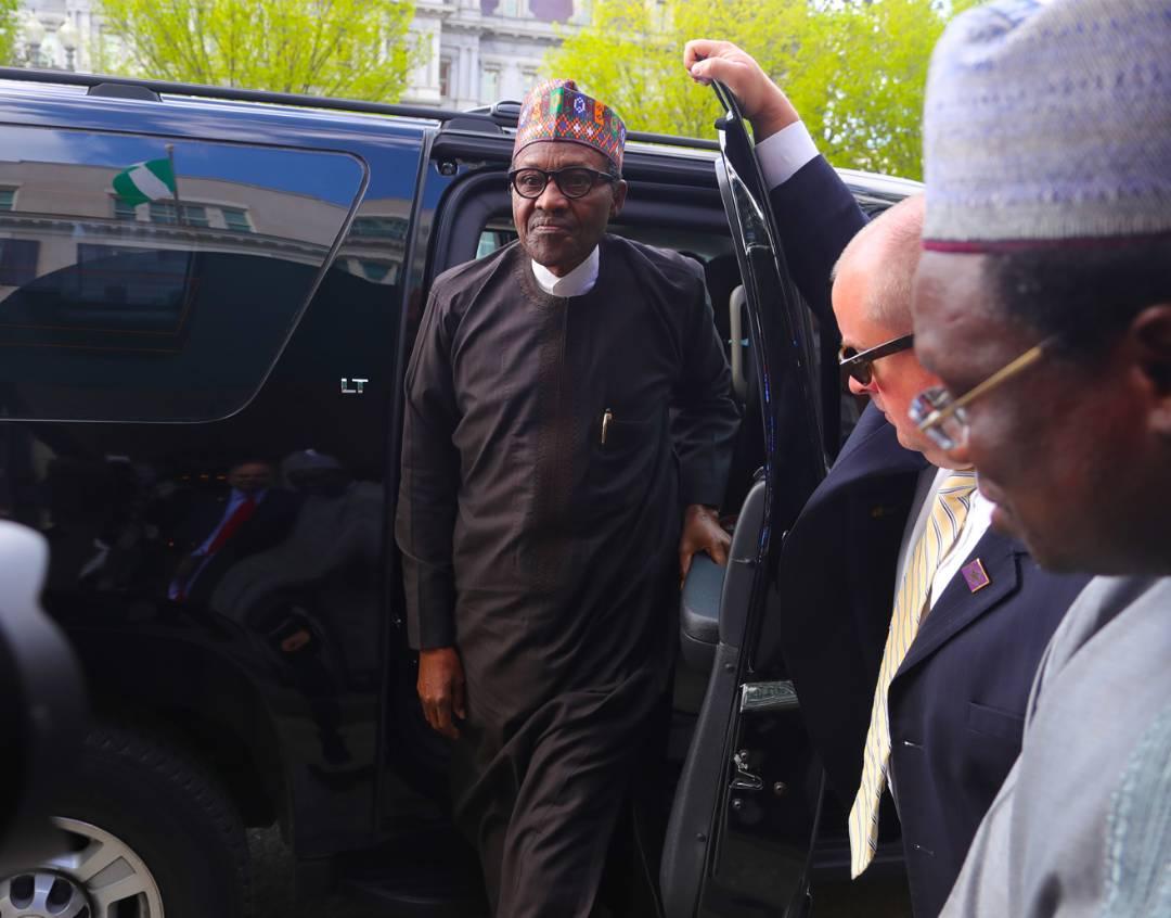 Buhari arrives Washington, to meet with Trump