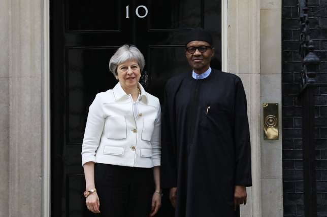 President Buhari Meets Theresa May for Talks in London