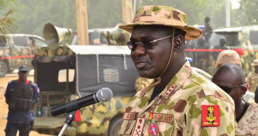 Army chief inaugurates projects in Lagos