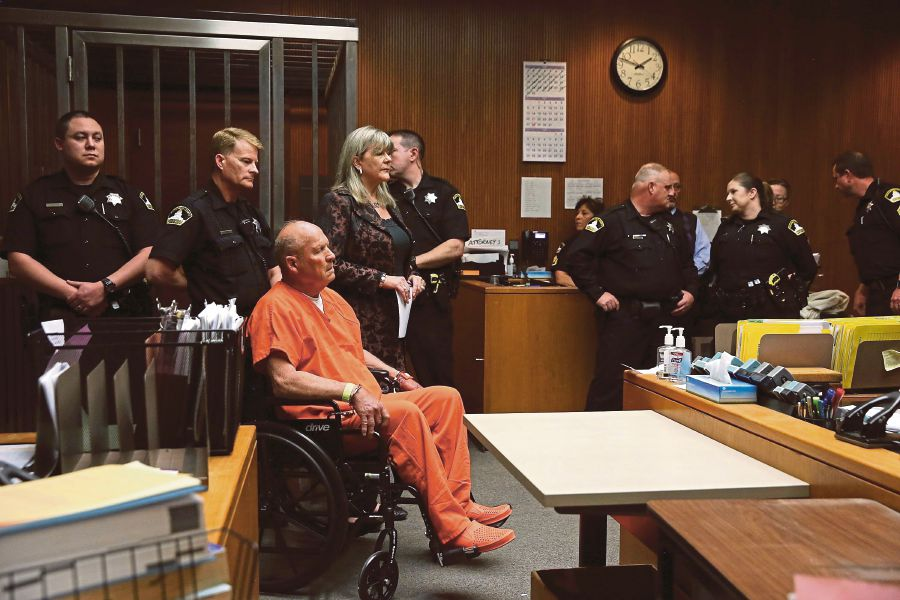 Accused ex-cop appears in California court