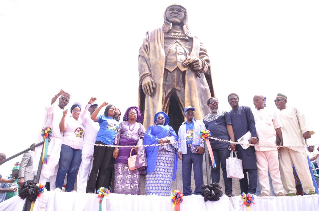 Lagos unveils 44-feet statue in honour of Gani Fawehinmi
