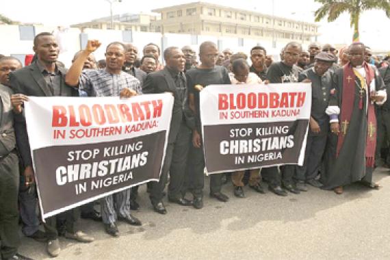 Christians protest against Herdsmen killings, demand better security