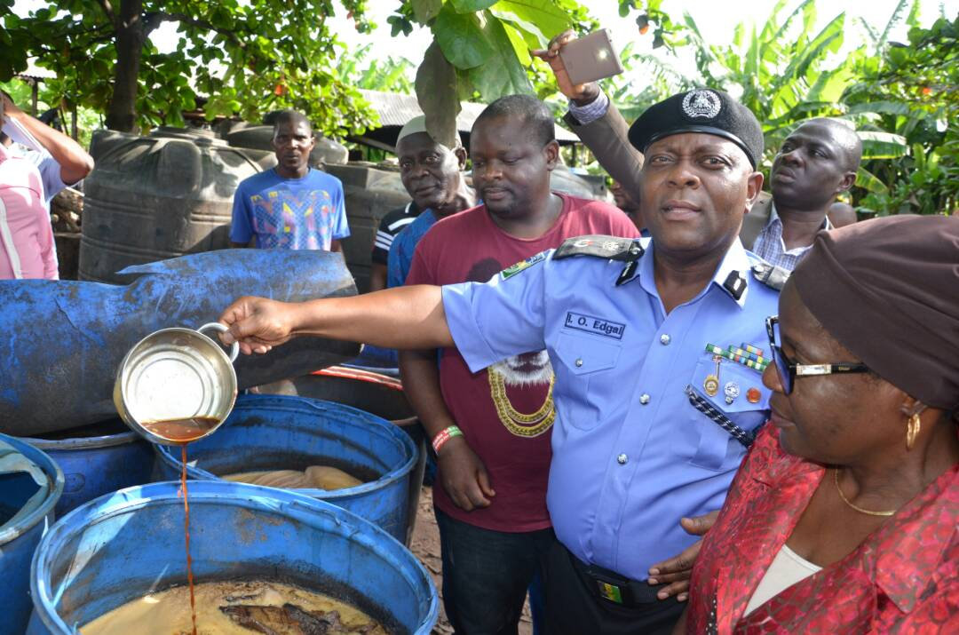 Police uncover illegal brewery in Lagos