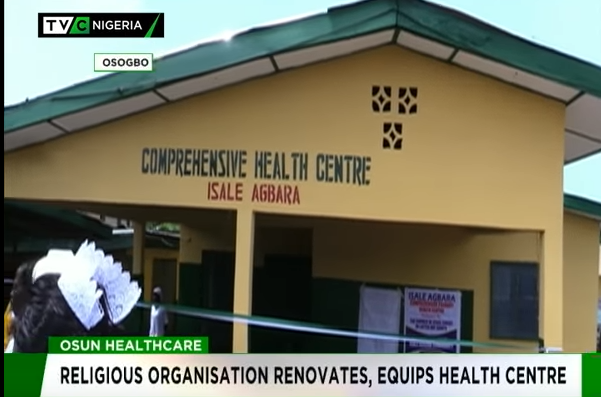 Religious organisation renovates, equips health centre in Osun