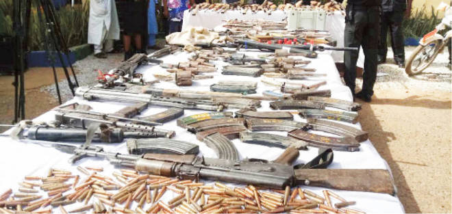 Police confisticate 61 riffles, pistols from suspects in Kano