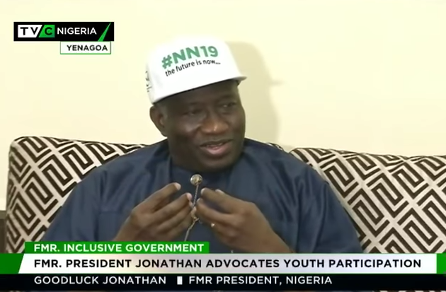 Jonathan advocates youth participation in govt structure