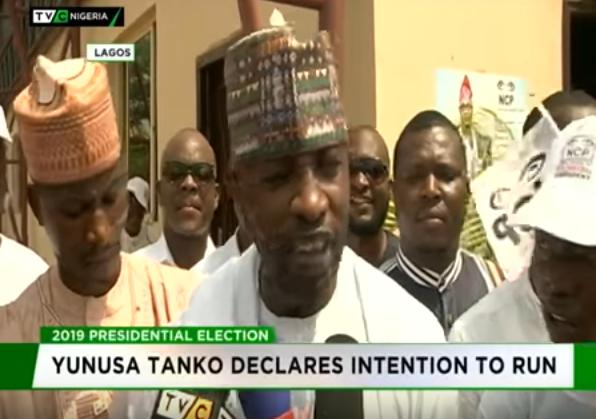 NCP chairman, Yunusa Tanko joins Presidential race