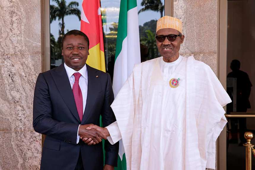 Gnassingbe commends Nigeria's role in integrating West Africa
