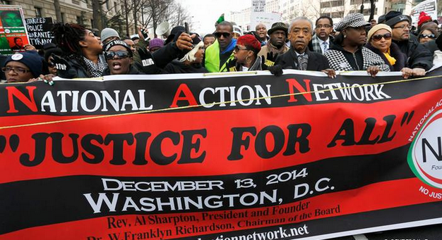 Thousands march in US cities against police killings of black men