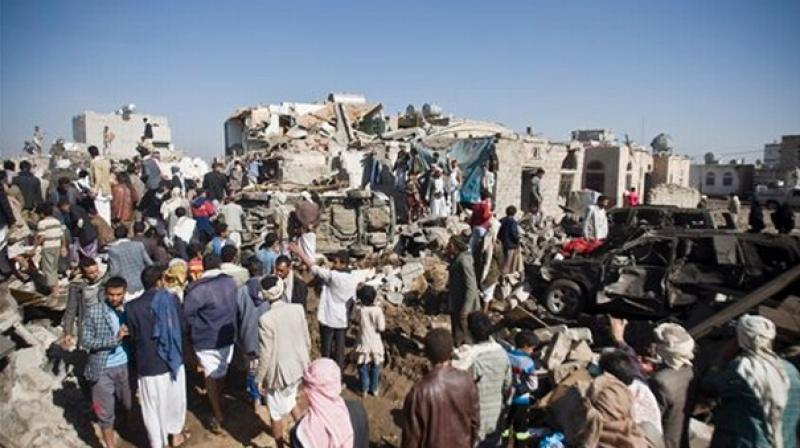 Saudi-led air strikes kill more than 20 at Yemen wedding