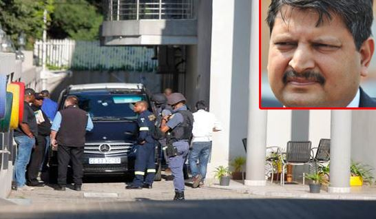 South African police authorities raid Gupta J'burg home