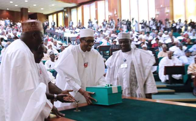 At last, Buhari receives 2018 Budget from NASS