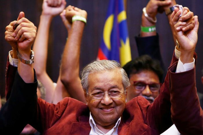 Mahathir Mohamad, 92, elected leader after shock win in Malaysia