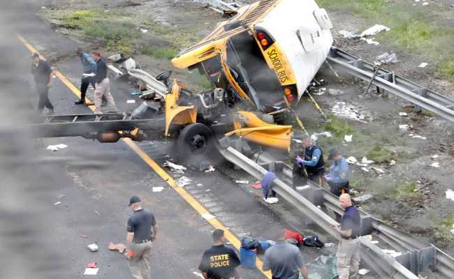 Two killed, 43 injured in New Jersey bus accident