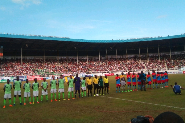 D.R. Congo hold Nigeria to 1-1 draw in Port Harcourt