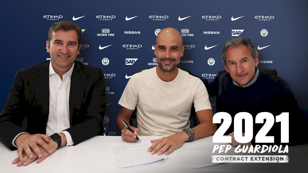 Pep Guardiola signs contract extension with Man City