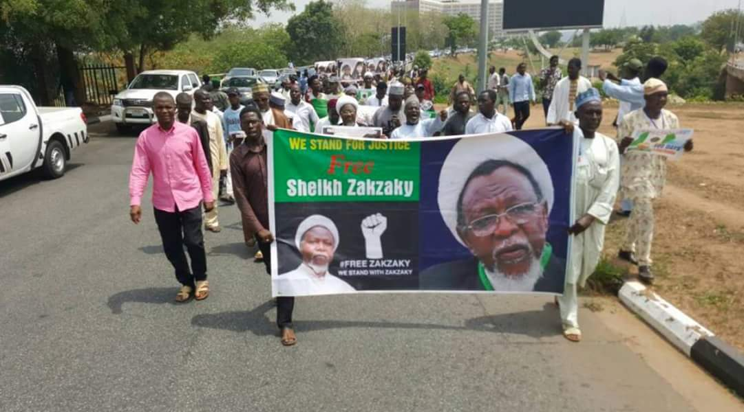 Shi'ites take protest to NHRC office, demand El-zakzaky's release
