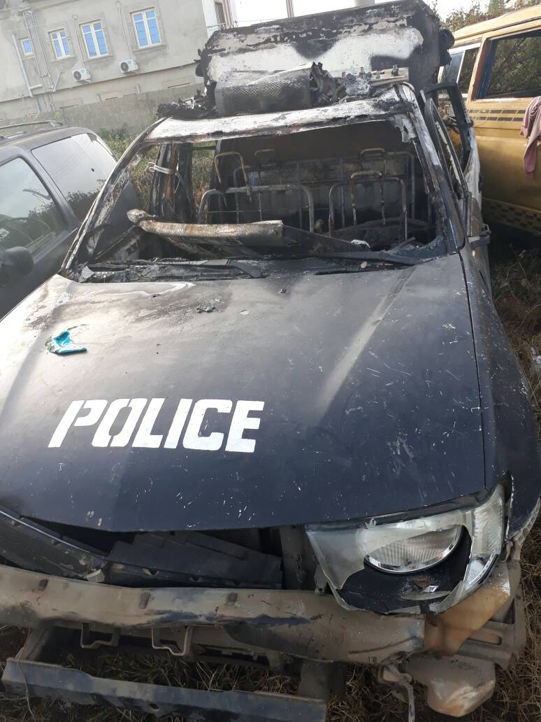 Lagos state police charges sixty three okada riders to court for burning cop car