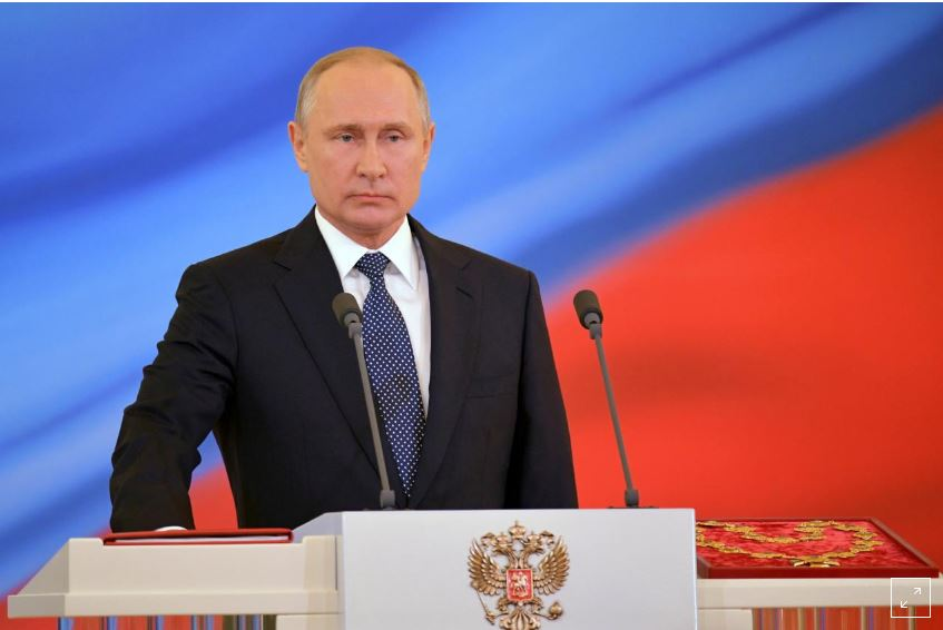 Putin sworn-in as Russia's President for a six year-term