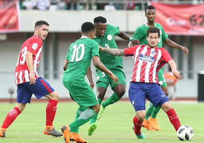 Atletico Madrid too good for Super Eagles, win friendly by 3-2