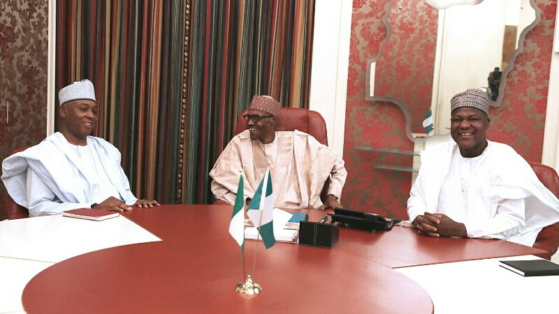 President Buhari holds closed door meeting with National Assembly leaders