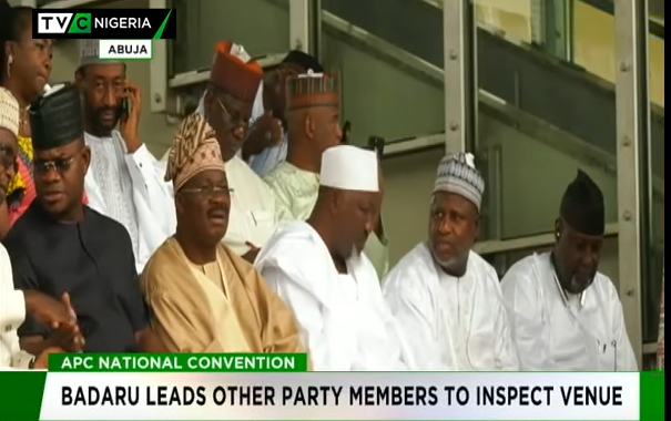 APC Convention: Badaru leads other party members to inspect venue