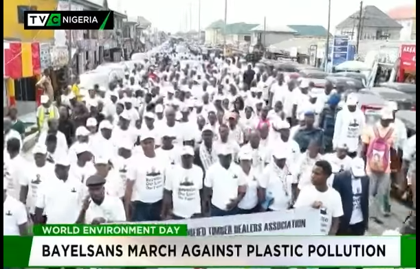 Bayelsans march against plastic pollution