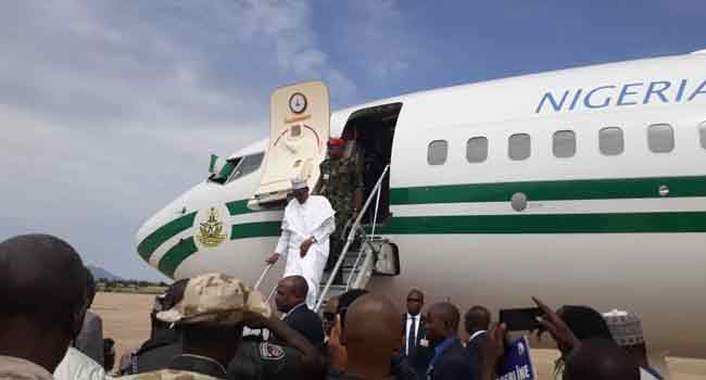 Buhari arrives in Mauritania for AU General Assembly