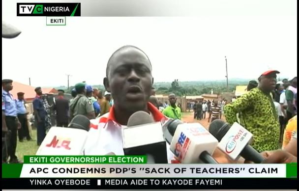 "Ekiti 2018: APC condemns PDP's ""sack of teachers"" claim"