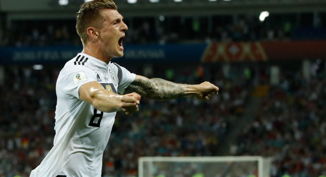 Kroos' injury time winner against Sweden revives Germany's hopes
