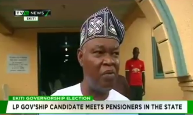 #Ekiti2018: LP governorship candidate meets pensioners