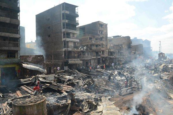 Fire kills 15, injures 70 in Central Nairobi