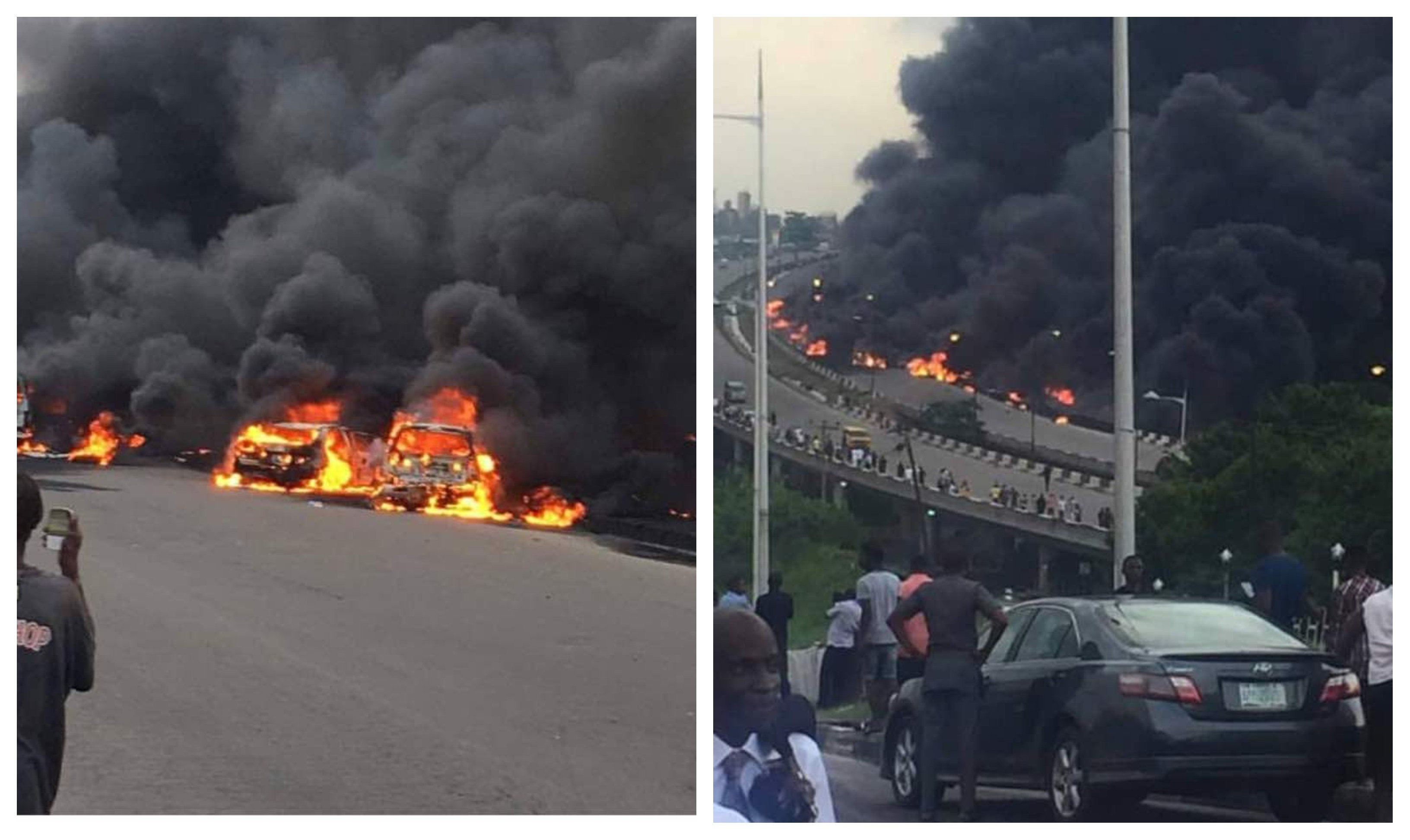 Update: Nine dead, 60 vehicles burnt in Lagos tanker explosion