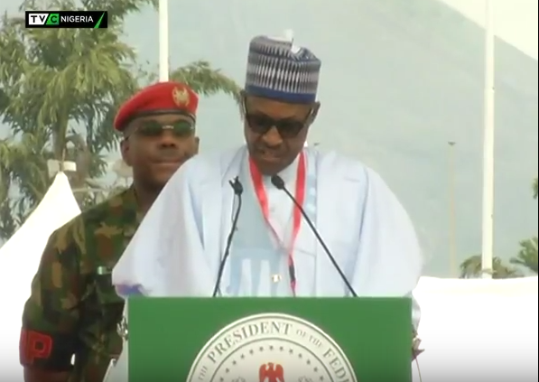 Full text+Video: Buhari's speech at the APC national convention