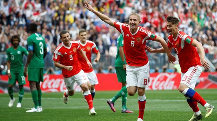 Russia thrash Saudi 5-0 in World Cup opener