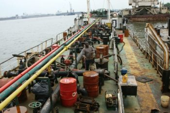 Navy intercepts 70,000litres of illegally refined crude